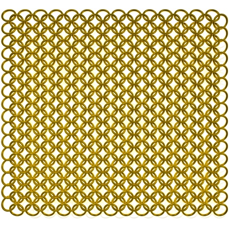 chain armour: Gold mail Stock Photo