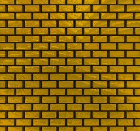 Gold bricks texture photo