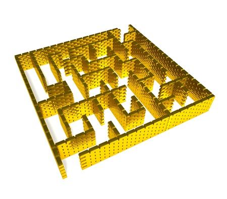 Maze from gold ingots