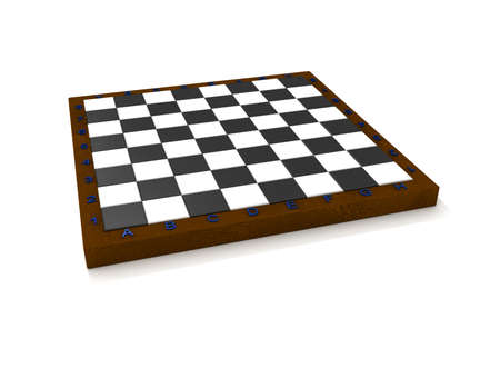 Empty isolated volume chess board