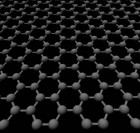 three-dimensional graphite hexagonal crystal lattice