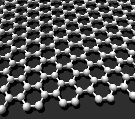 three-dimensional model crystal lattice graphene