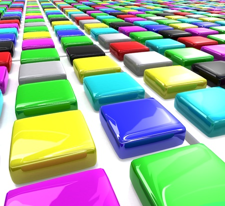 Many rows of square color blocks Stock Photo - 9259485