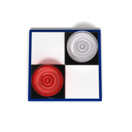 Board games symbol. chessboard 2x2 with two checkers Stock Photo