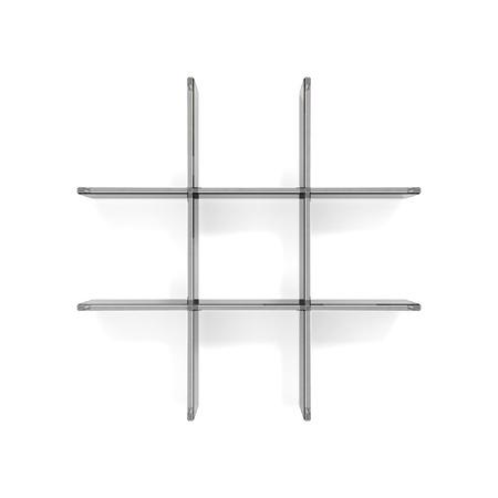 shelfs: grid transparent glass shelfs
