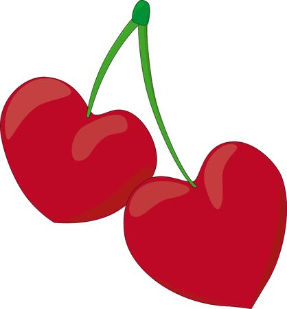 two hearts together: Cherry hearts