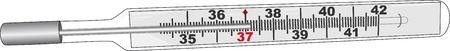 sick malady: Thermometer