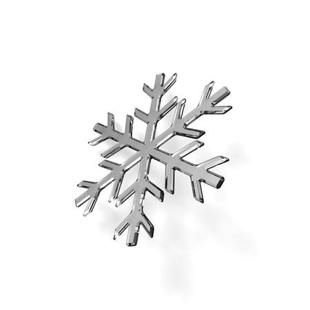 Gray glass snowflake on white
