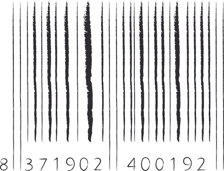hand drawn barcode with black stroke Illustration