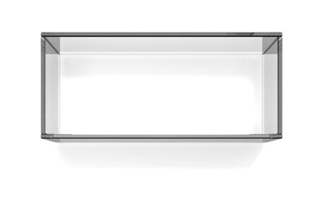 Square dark glass shelf  photo