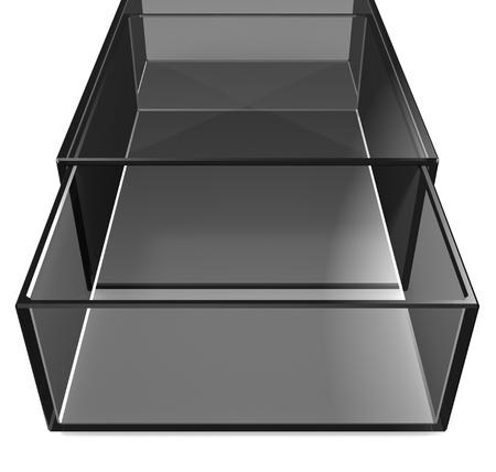 matchbox: Gray glass matchbox on white