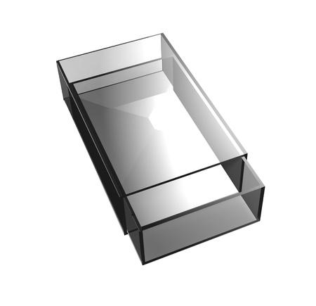 matchbox: Gray glass matchbox Stock Photo