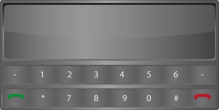 simplex: simple horizontal gray mobile phone