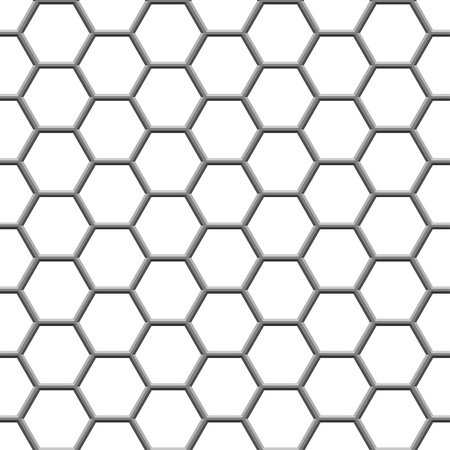 seamless texture gray hex grid on white