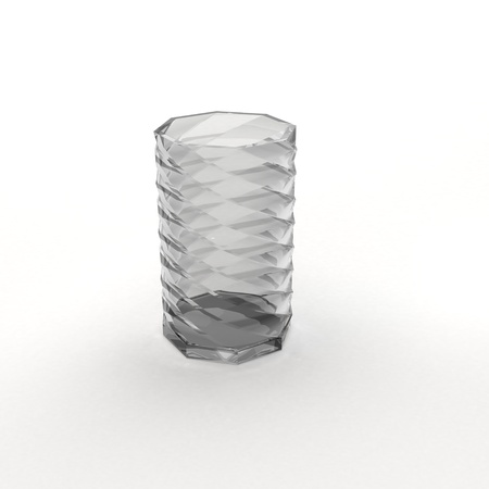 Glass barrel on white photo