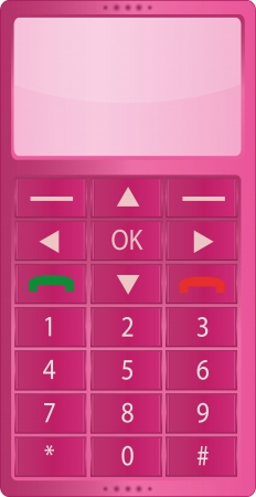 simplex: Isolated simple pink telephone