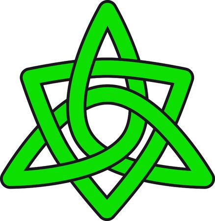gallic: Green celtic pattern