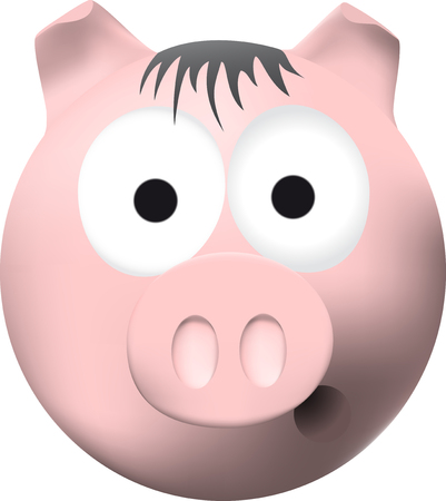 one of a kind: Pink pig