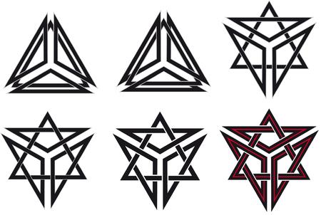 gallic: Set of celtic design elements Illustration