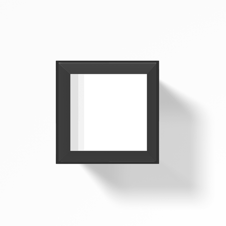 isolated on gray: Isolated gray glass square over white Stock Photo