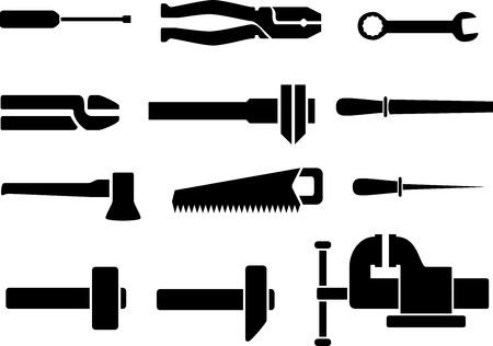 schlosser: 12 Schablonen Instrumente f�r die Schlosserarbeiten