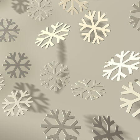 bevel: Soft easy bevel snowflakes with shadow