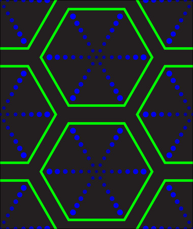 psy: Psychodelic contrasting geometric seamless texture