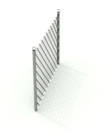 Transparent glass lattice in perspective with shadow over white Stock Photo