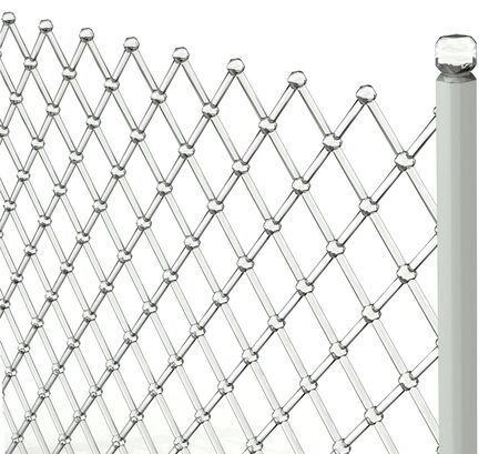 Isolated gray glass grid with white background