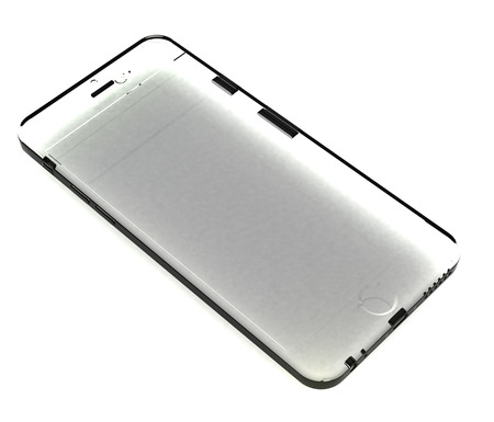 Isolated glass phone Stock Photo