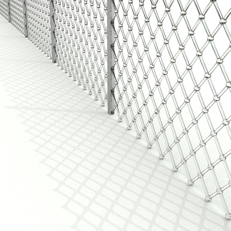 Glass grid with shadow on white Stock Photo