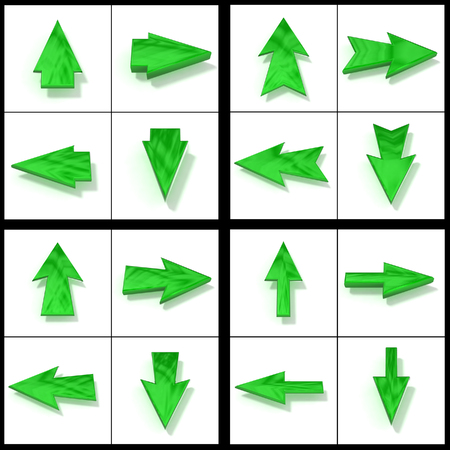 Set green pointers in four directions