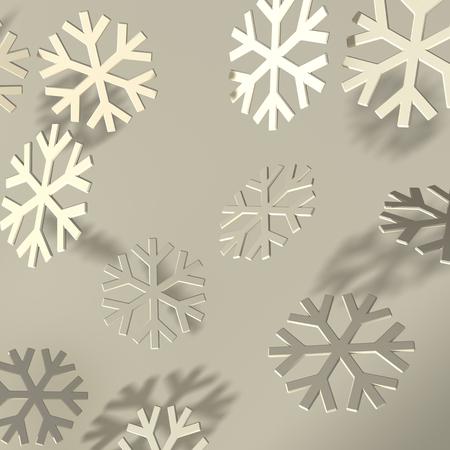 bevel: Soft bevel snowflakes