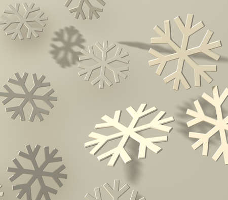 Soft easy bevel snowflakes with shadow