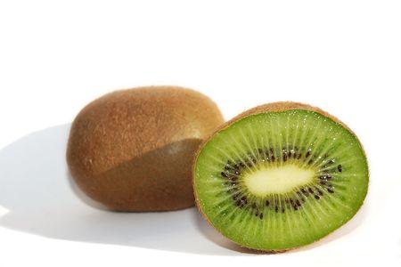 Close shot of a kiwifruit cut in half Stock Photo - 778159