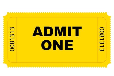 ticket vector: Cine amarillo billete de entrada de gr�ficos vectoriales  Vectores