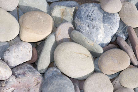 Detailed view of pebbles, suitable for background or texture