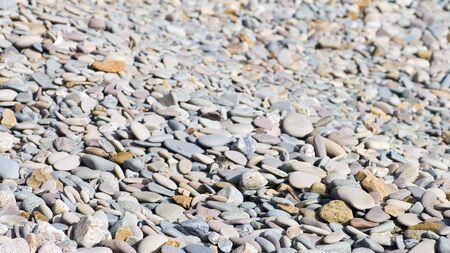 beach shingle: Ciottoli da ghiaia spiaggia, adatta per lo sfondo o texture Archivio Fotografico