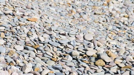 Pebbles from shingle beach, suitable for background or texture Stock Photo