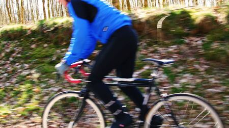 cycling competition or exercise on a bike. motion blur biker Stock Photo - 5778882