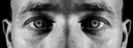 face of male and eyes. man staring and focus on camera Stock Photo - 5795748