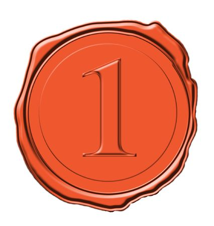 wax seal for for product or an award or certificate icon isoled on white  photo