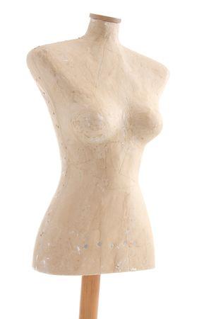 dummy sarti o mannequin isolata on white. forma di donna o femmina per abito decisionale