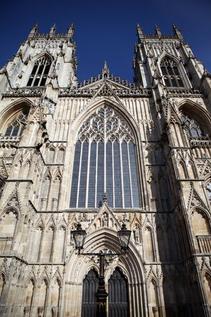 Church in England. York Minster cathedral gothic religious building of christian faith Stock Photo - 6873916