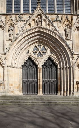 Church in England. York Minster cathedral gothic religious building of christian faith Stock Photo - 6874048