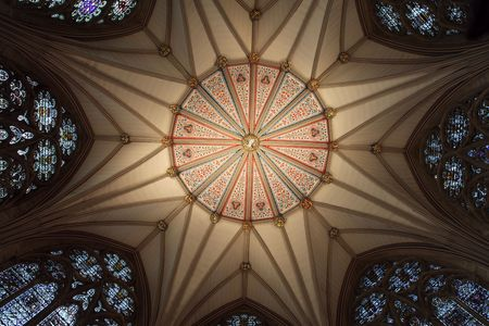 church in england interior, york minster ornate ceiling Stock Photo - 6874009
