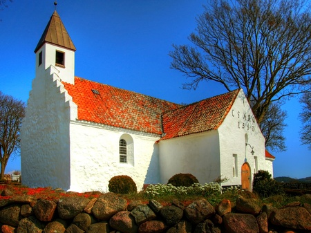 church in denmark in scandinavia. Christian place of worship and religion Stock Photo - 13127389