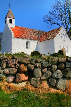 church in denmark in scandinavia. Christian place of worship and religion photo