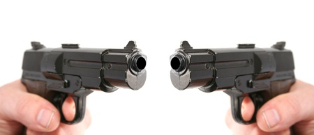 gun or pistol evidence of a crime or security and protection Stock Photo - 13127134