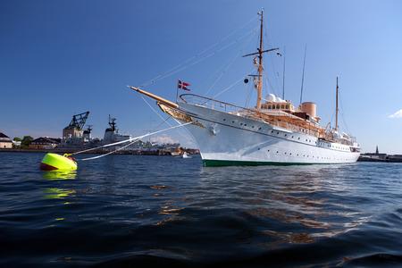 royale: Her Danish Majestys Royale Yacht Dannebrog. Queen of Denmark Margrethe